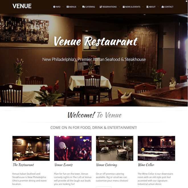 Venue Restaurant, Italian Seafood and Steakhouse